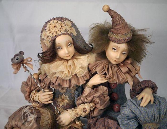 Арлекин и Коломбина. Автор: Тамара Пивнюк.