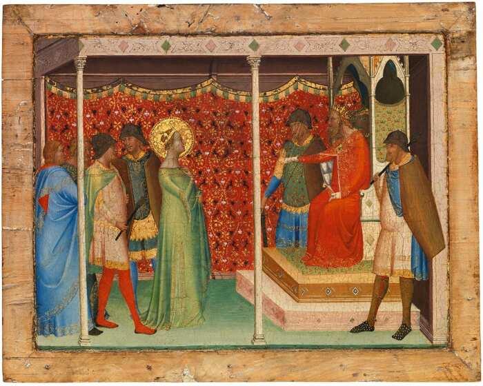 Святая Репарата перед императором Децием, Бернардо Дадди, 1338-40 гг. \ Фото: theconversation.com.