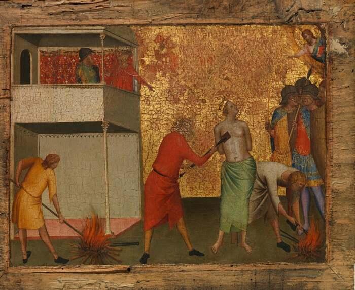 Святая Репарата, замученная раскаленным железом, Бернардо Дадди. \ Фото: google.com.