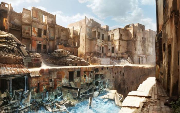 Город руин.