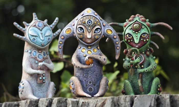 Трио хранителей. Необычные игрушки от мастерицы Марьяны Копыловой.