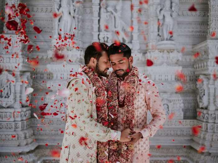 Свадебные фотографии пары стали вирусными.