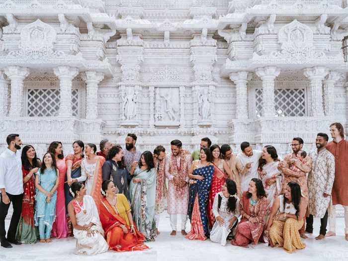 Семья сыграла большую роль на свадьбе.