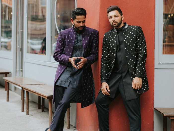 Пара разработала свои собственные наряды для Sangeet.