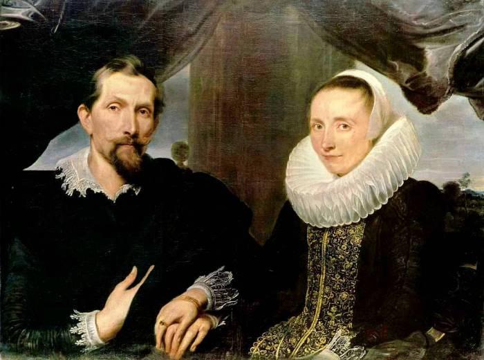 Портрет Франса Снейдерса с женой, 1631 год. Автор: Антонис ван Дейк (Antoon van Dyck).