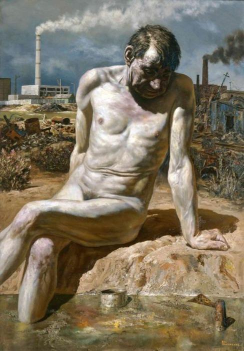 Седе Адам прямо Рая... Автор: Василий Шульженко.