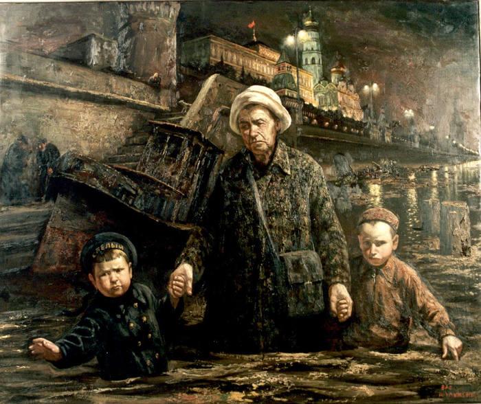 Прогулки с бабушкой по Москве-реке. Автор: Василий Шульженко.