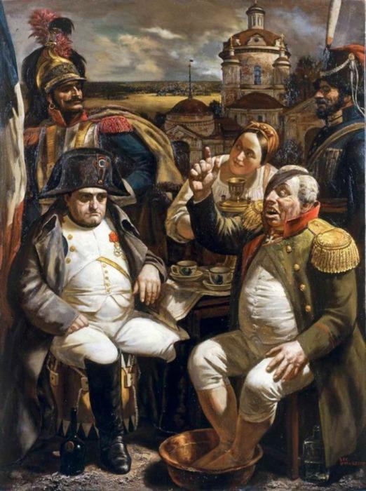 Кутузов и Наполеон. Автор: Василий Шульженко.