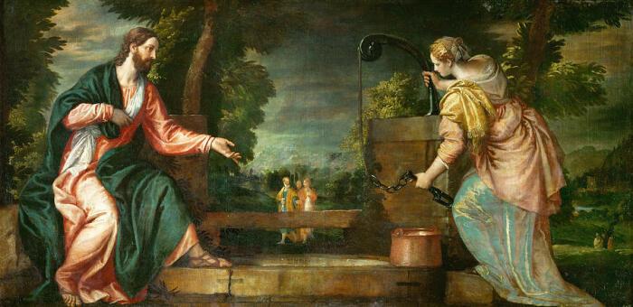 Христос и самарянка у колодца. \ Фото: fineartamerica.com.