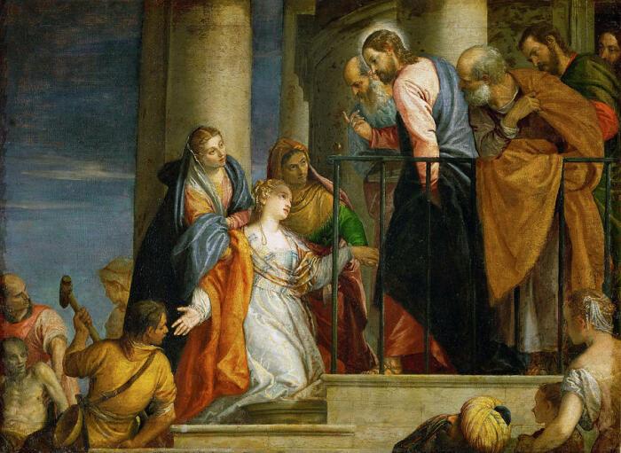 Иисус исцеляет женщину. \ Фото: fineartamerica.com.