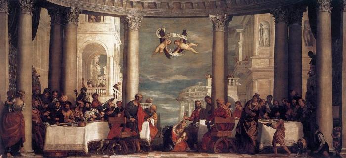 Праздник в доме Симона, 1570 год. \ Фото: ru.wikipedia.org.