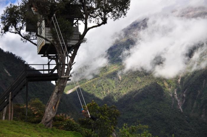 Качели на краю света, Баньос, Эквадор.