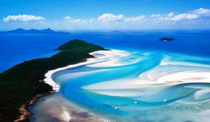 Пляж Уайтхевен, остров Уитсандей, Австралия.