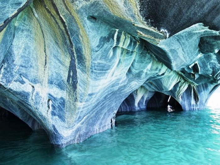Мраморные пещеры, Патагония, Чили.
