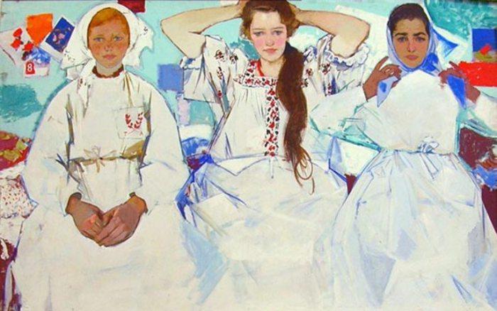 Девчата. Работы украинского художника Виктора Зарецкого.