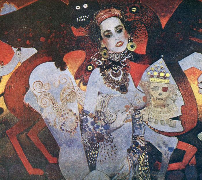 Более поздние работы Виктора Зарецкого, которые сравнивают с творчеством Густава Климта.