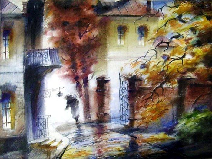 УÑодящий в осень. Автор: Виктор Зелик.