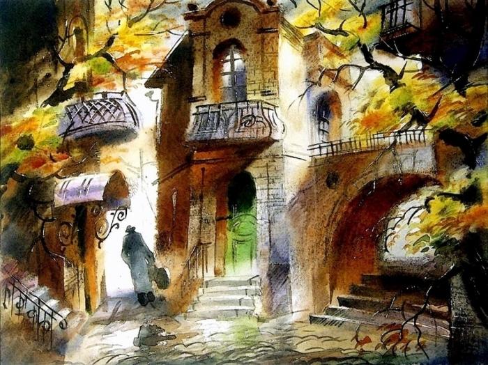 Осенний музыкант. Автор: Виктор Зелик.