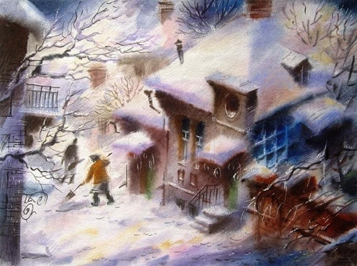 Зимнее утро. Автор: Виктор Зелик.