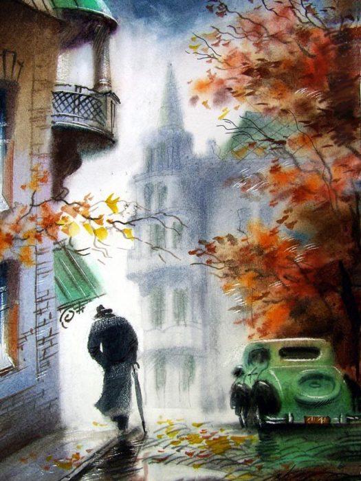 Осенний ноктюрн. Автор: Виктор Зелик.
