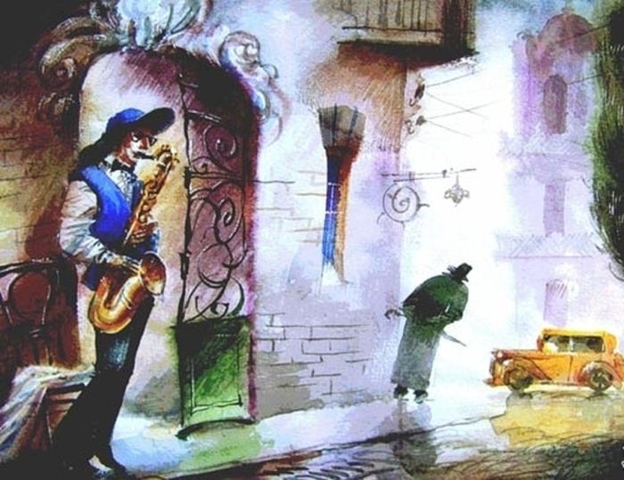 Саксофонист. Автор: Виктор Зелик.