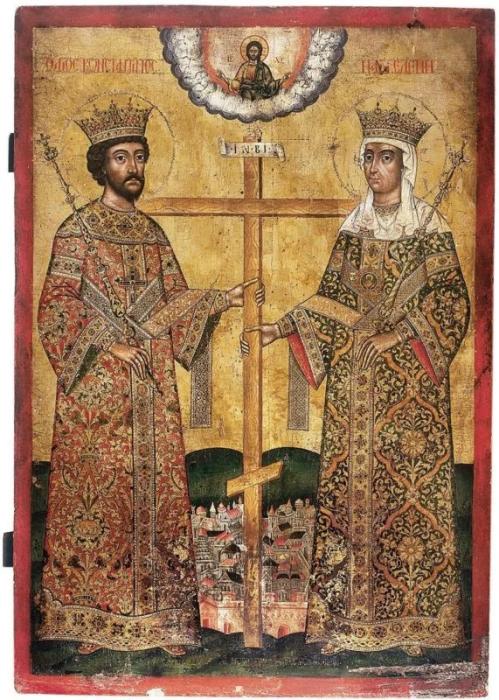 Константин Великий и Елена Равноапостольная, 1699 год. / Фото: pinterest.com.