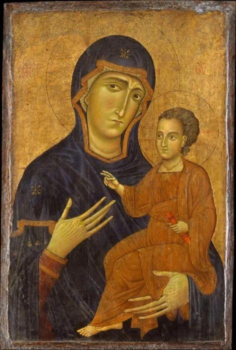 Богородица Одигитрия, примерно 12 век нашей эры. / Фото: ruicon.ru.