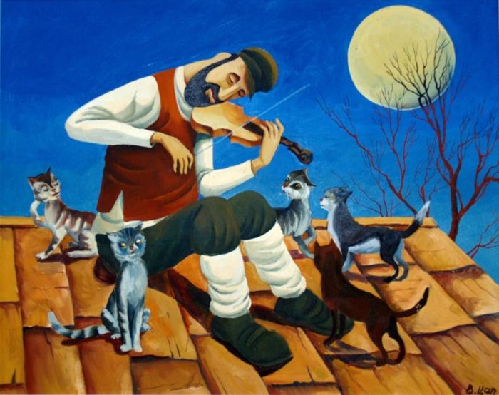 Скрипач на крыше. Автор: Владислав Цап.