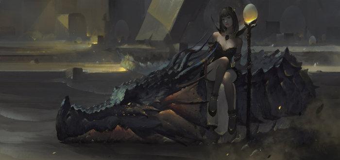 Ведьма и Дракон. Цифровые работы Ле Вонг (Le Vuong).