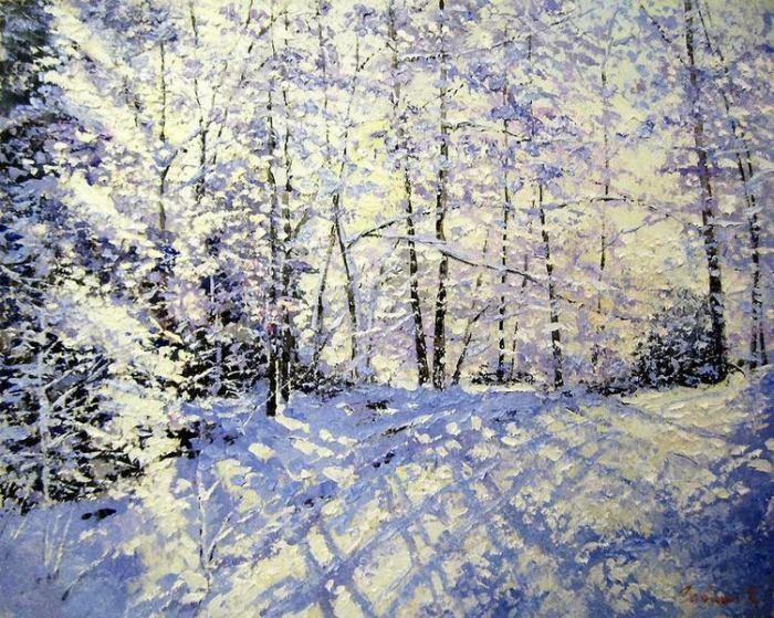 Зимний лес. Автор: Евгений Гавлин.