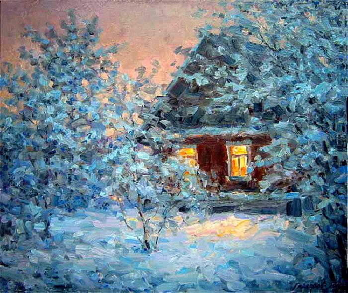 Зимний вечер. Автор: Гайдеров Михаил.