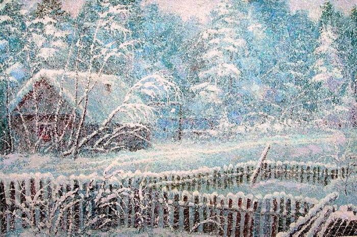 Зима в деревне. Автор: А.Лоскутов.