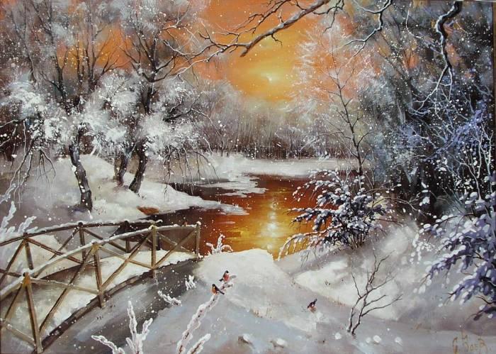 Сказочный пейзаж. Сергей Боев.