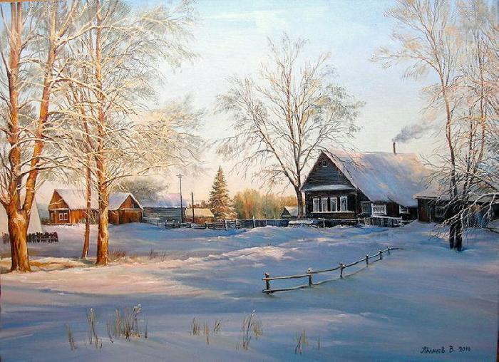 Зимний пейзаж. Автор: В. Палачев.