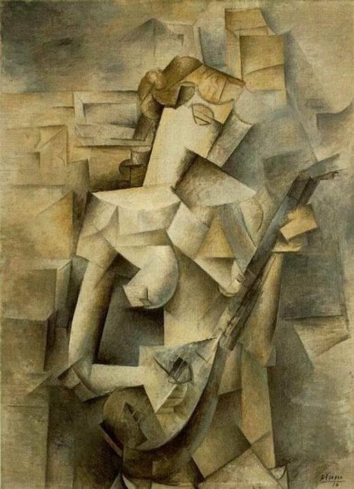 Пикассо «Играющая на мандолине».