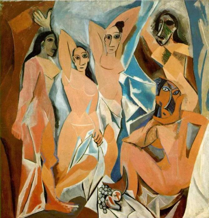 Пикассо «Авиньонские девицы».