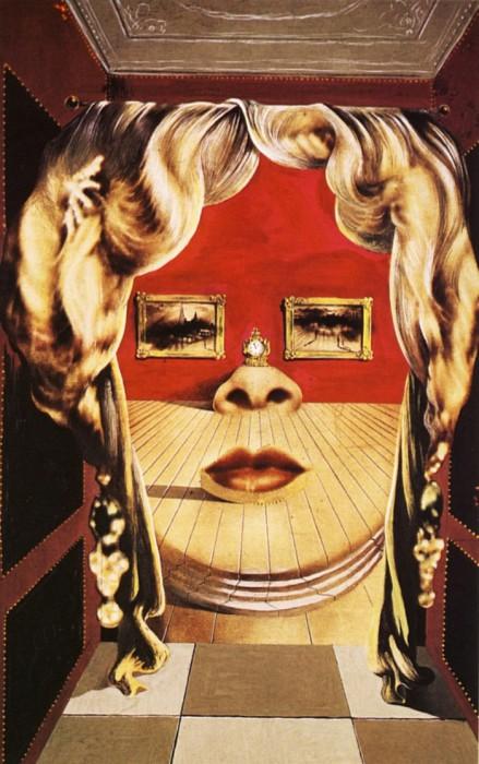 Сальвадор Дали  «Лицо Мэй Уэст» (сюрреалистическая комната).