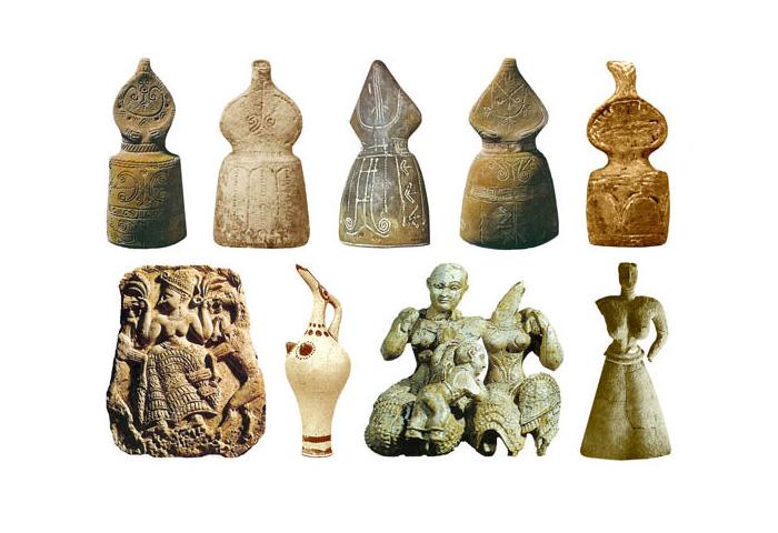 Скульптуры Богинь 1600-1000 до н.э.