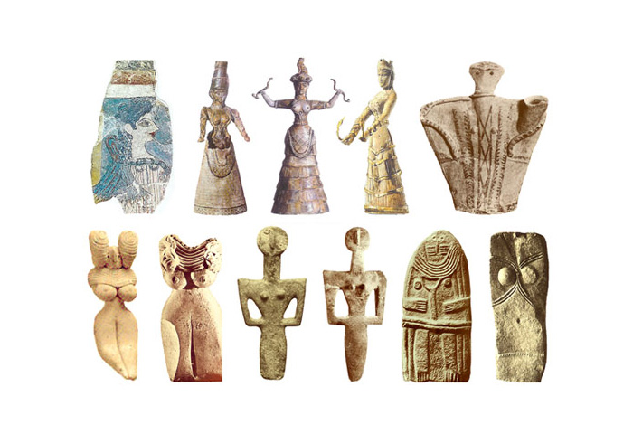 Скульптуры Богинь 2200-1600 до н.э.