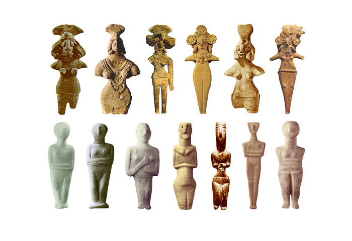 Скульптуры Богинь 3000-2200 до н.э.
