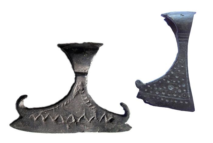Привеска-оберег Топор. Медный сплав, литье XI-XII вв.