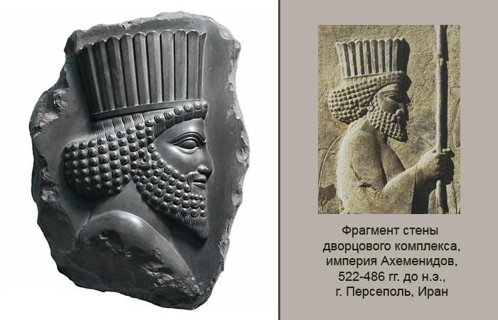 Барельеф с выразительным профилем царского вельможи создает полную иллюзию настоящего фрагмента.