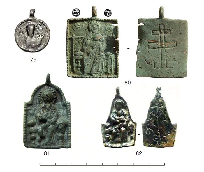 (табл. VI) Иконки от XII–XIII вв. с  изображением Богоматери Агиосоритиссы и Богоматери на Престоле