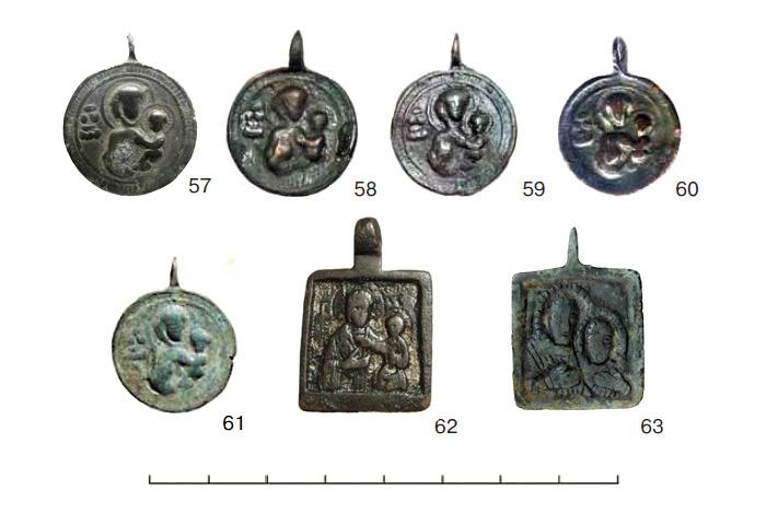 (табл. V) Иконки от XII–XIII вв. до первой половины XV в. с  изображением Богоматери Одигитрии