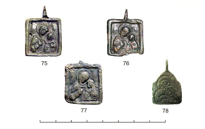 (табл. VI) Иконки от XII–XIII вв. с  изображением Богоматери Умиление
