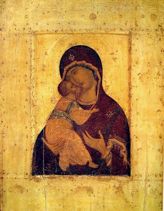 (Рис.5.) Иконография Богоматери. 5 – Богоматерь Умиление Владимирская, икона XVII в.;