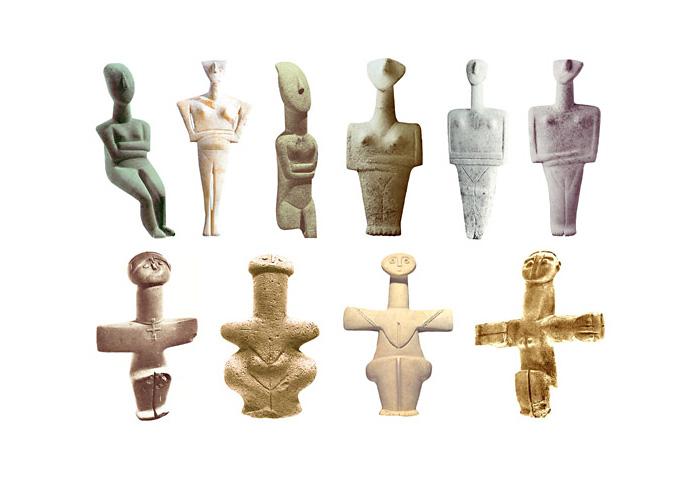 Скульптуры Богинь раннего бронзового века