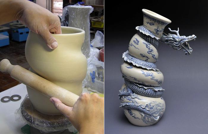 Как рождаются фарфоровые драконы: мастеркласс скульптора Johnson Tsang