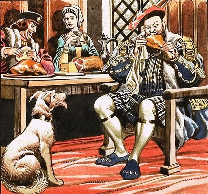 Прожорливость английского короля Генриха VIII.   Фото: s3-eu-west-1.amazonaws.com.