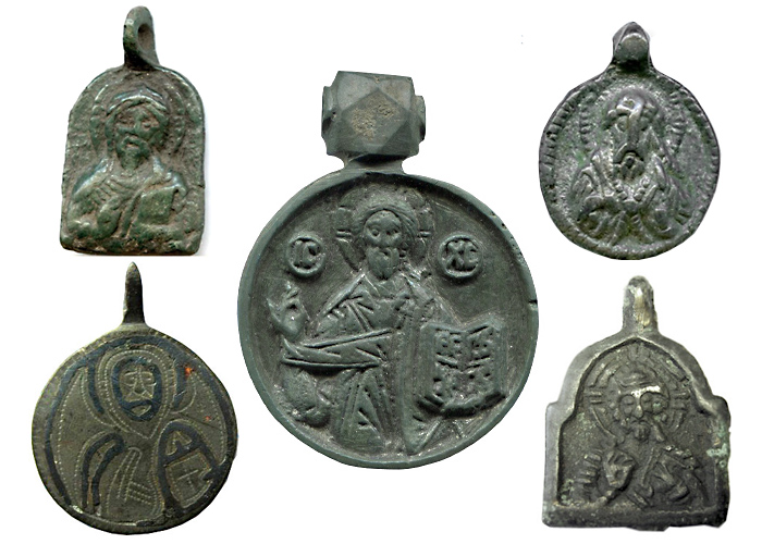 Русские иконки-привески XI–XVI вв. с изображением Христа
